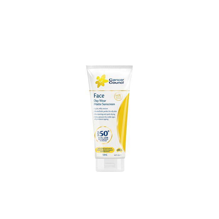 Cancer Council Australia 澳洲防癌協會 Day Wear Face Matte Sunscreen 面部強護防曬乳 SPF50+ (50ml)