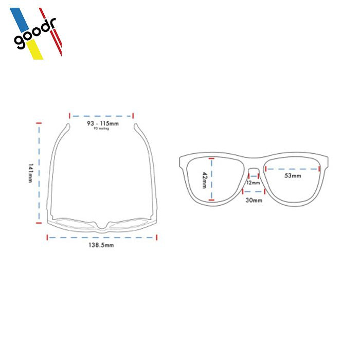 5852f6bb324 Goodr Sports Sunglasses - You don t look like Buddy Holly. At all ...