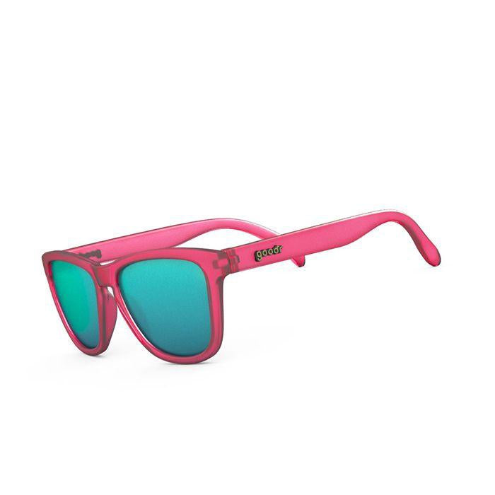 Goodr Sports Sunglasses - Flamingos On a Booze Cruise 運動跑步太陽眼鏡 (粉紅/湖水藍)