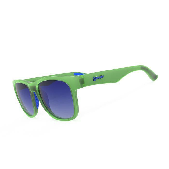 Goodr Sports Sunglasses BFGs - Grass Fed Babe Steaks 運動跑步太陽眼鏡(加闊鏡框) (綠/藍)