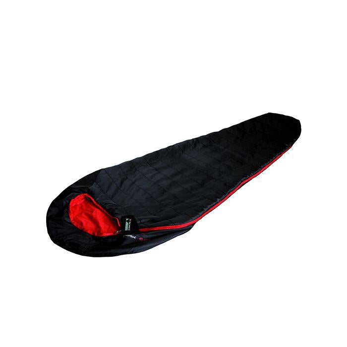 HIGHPEAK Mummy Sleeping Bag Pak 600 Black/Red 德國高溫棉睡袋