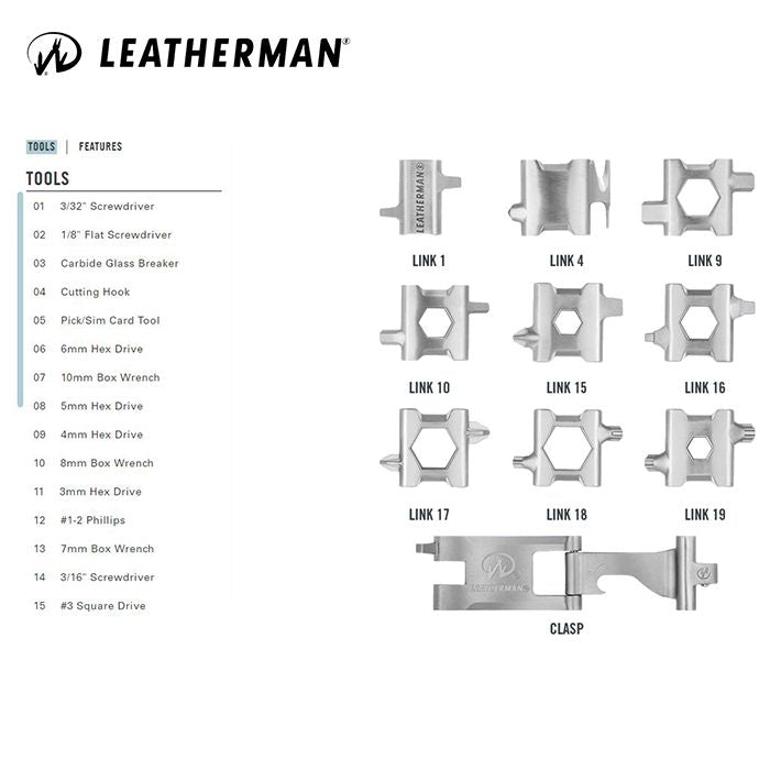 Leatherman TREAD® Metric 多功能萬用工具手鍊 | Leatherman TREAD® Metric