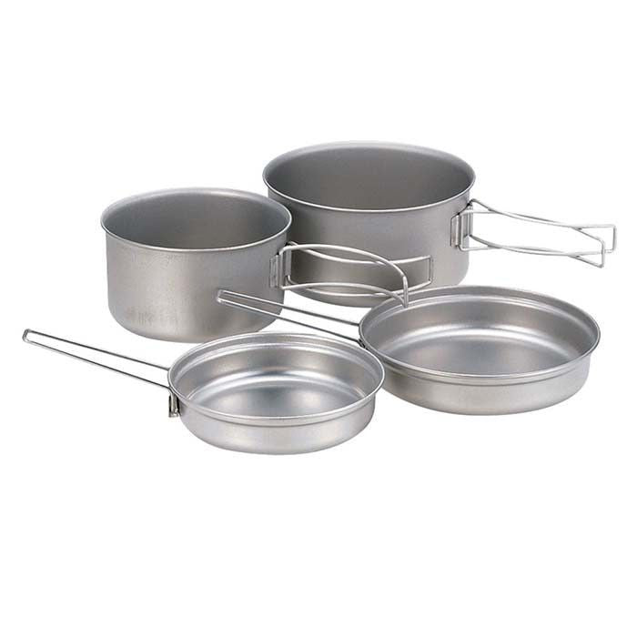 Snow Peak 4-pc Titanium Cookset 鈦金屬煮食雙鍋四件套裝 SCS-020T