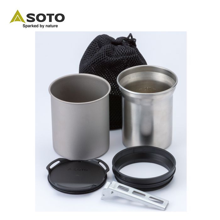 SOTO ThermoStack SOD-520 鈦杯不鏽鋼杯雙杯套裝
