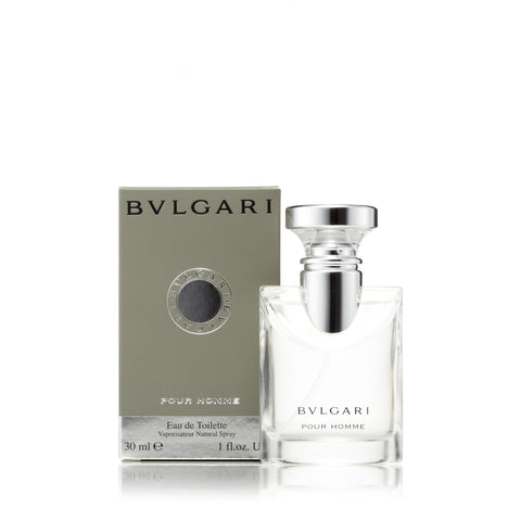 Pour Homme Eau de Toilette Spray for Men by Bvlgari 1.0 oz.