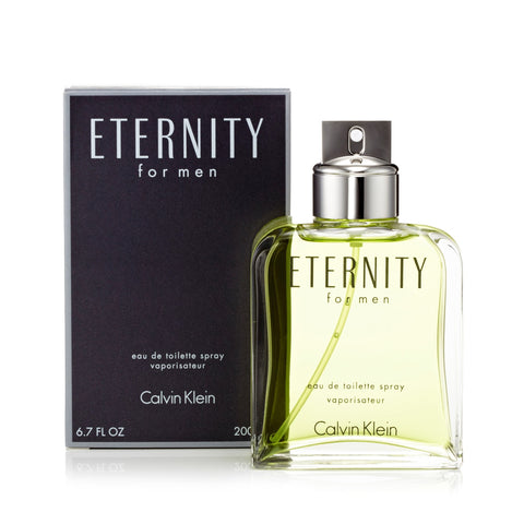 Eternity Eau de Toilette Spray for Men by Calvin Klein 6.7 oz.