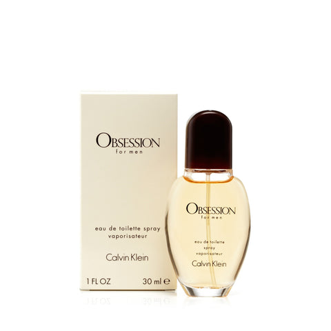 Obsession Eau de Toilette Spray for Men by Calvin Klein 1.0 oz.