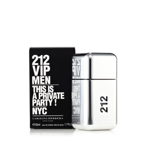 212 Vip Men Eau de Toilette Spray for Men by Carolina Herrera 1.7 oz.