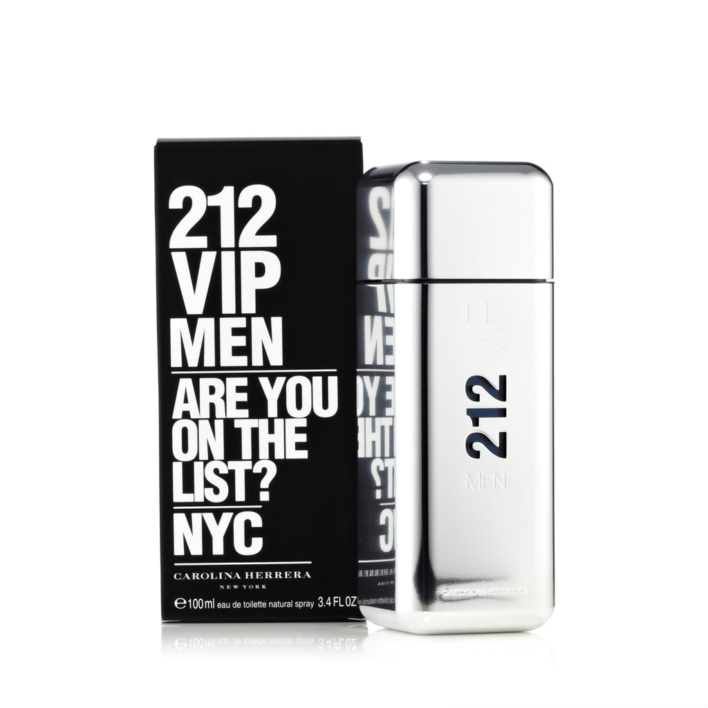 212 Vip Men Eau de Toilette Spray for Men by Carolina Herrera 3.4 oz.