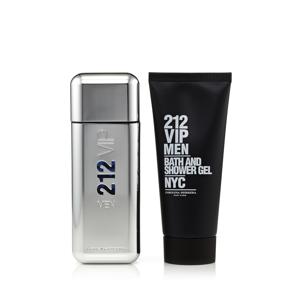 212 Vip Gift Set EDT and Shower Gel for Men by Carolina Herrera 3.4 oz.