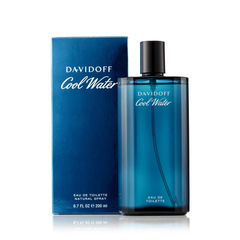 Cool Water Eau de Toilette Spray for Men by Davidoff 6.7 oz.