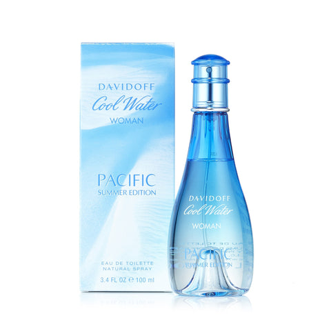 Cool Water Pacific Summer Edition 2017 Eau de Toilette Spray for Women by Davidoff 3.4 oz.