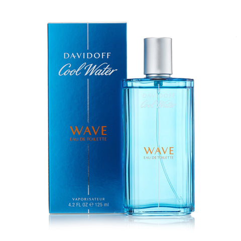 Cool Water Wave Eau de Toilette Spray for Men by Davidoff 4.2 oz.