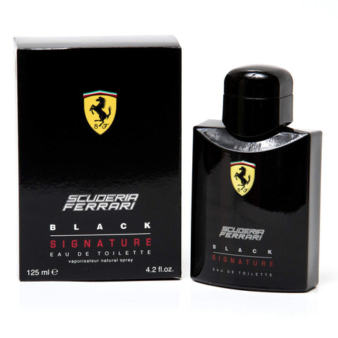Scuderia Black Signature Eau de Toilette Spray for Men by Ferrari 4.2 oz. image