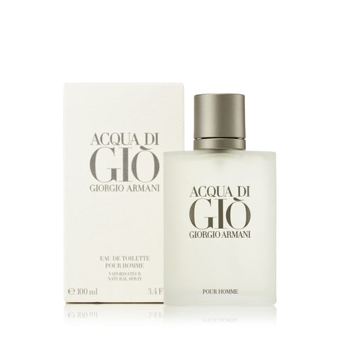 Acqua Di Gio Eau de Toilette Spray for Men by Giorgio Armani 3.4 oz.