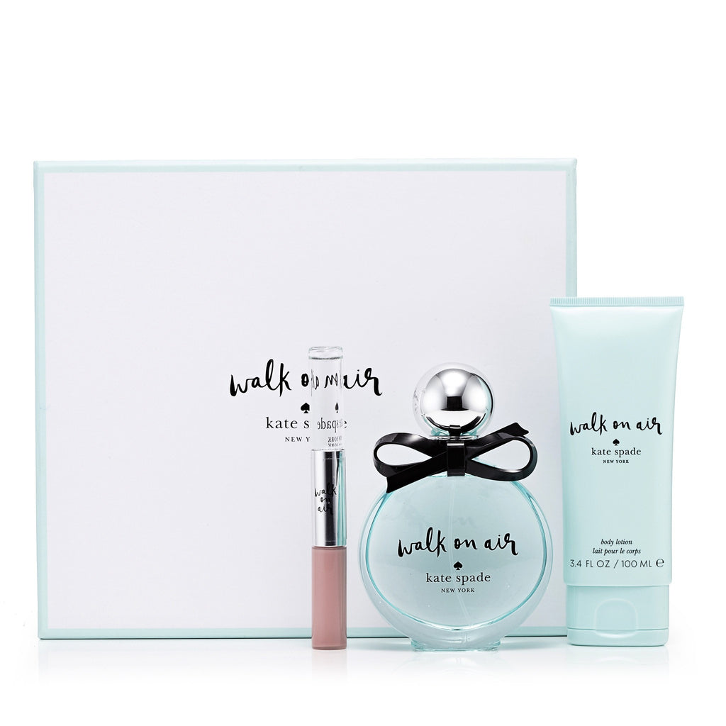 Walk on Air Gift Set Eau de Parfum, Body Lotion, Rollerball and Lip Gloss for Women by Kate Spade 3.4 oz.
