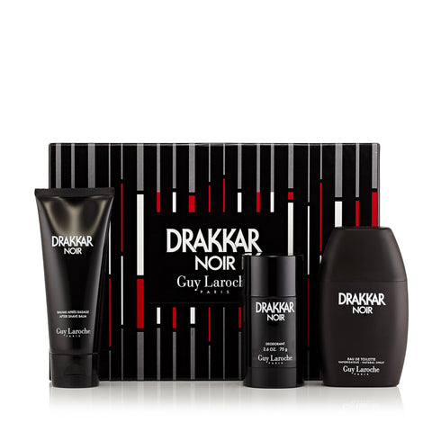 Drakkar Gift Set EDT, After Shave Balm and Deodorant for Men by Guy Laroche 3.4 oz.