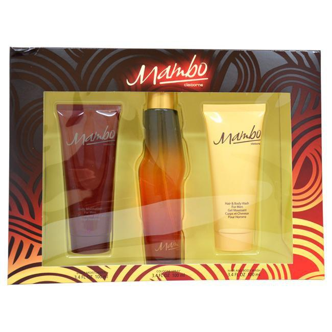Mambo by Liz Claiborne for Men - 3 Pc Gift Set 3.4oz Cologne Spray, 3.4oz Body Moisturizer, 3.4oz Hair and Body Wash
