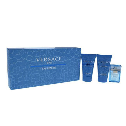 Versace Man Eau Fraiche by Versace for Men - 3 Pc Mini Gift Set 5ml EDT Splash, 25ml Shower Gel, 25m image