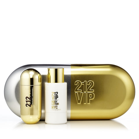 212 Vip Gift Set for Women by Carolina Herrera 2.7 oz.