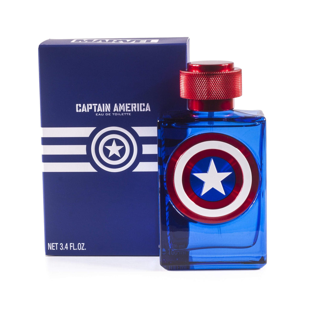 Captain America Eau de Toilette Spray for Boys by Marvel 3.4 oz.