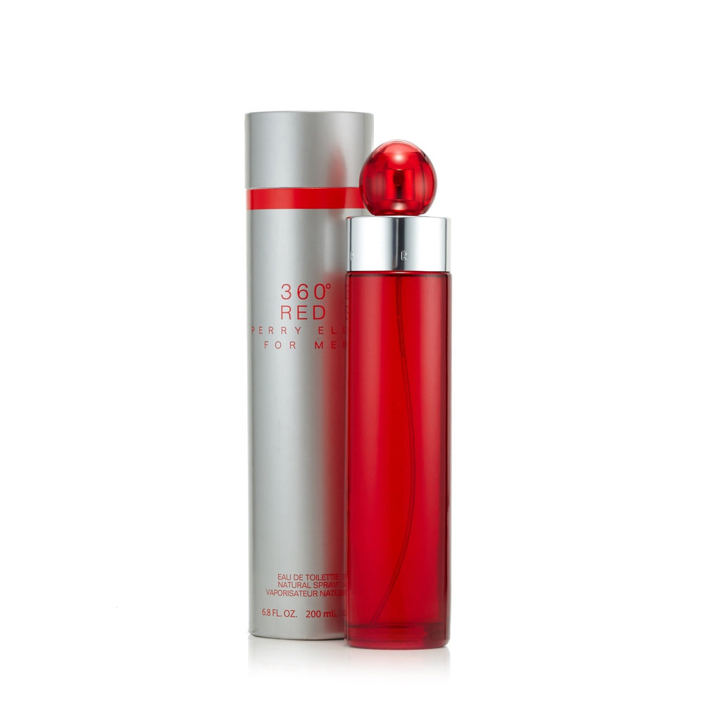 360° Red Eau de Toilette Spray for Men by Perry Ellis 6.8 oz.