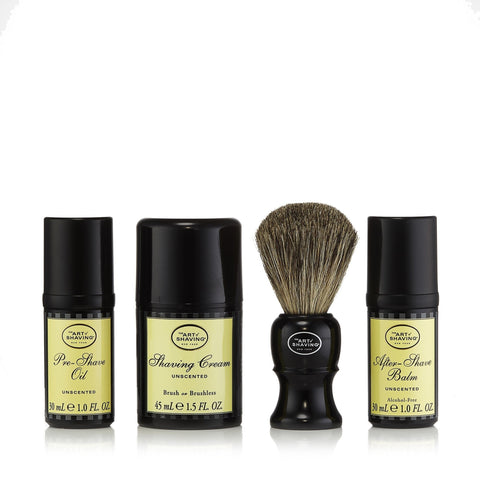 The 4 Elements of the Perfect Shave Set Unscented by The Art of Shaving image