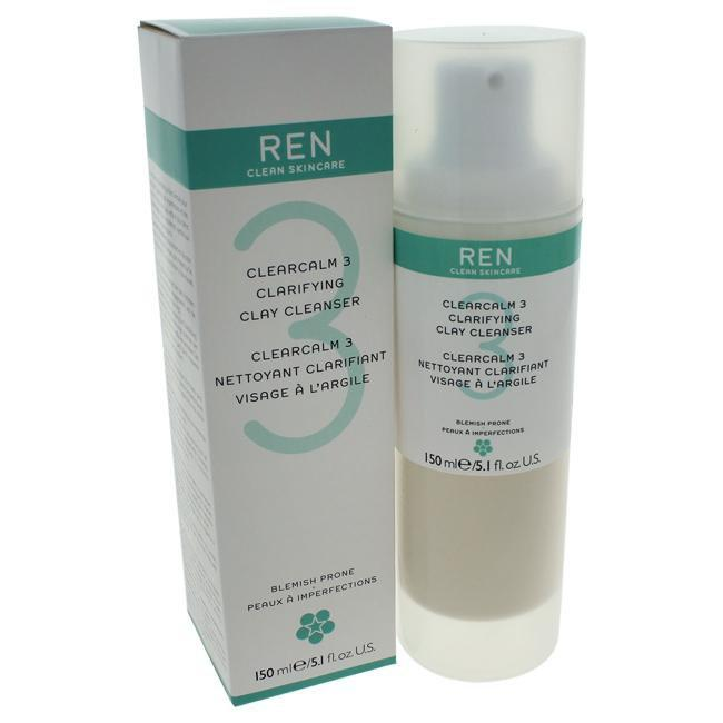 Clearcalm 3 Clarifying Clay Cleanser by REN for Unisex - 5.1 oz Cleanser