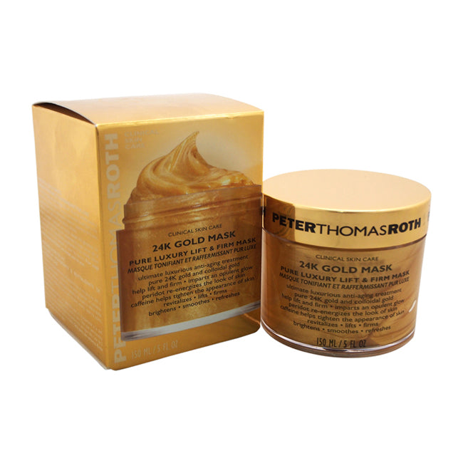 24K Gold Mask Pure Luxury Lift and Firm Mask by Peter Thomas Roth for Unisex - 5 oz Mask