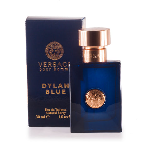 Dylan Blue Eau de Toilette Spray for Men by Versace 1.0 oz.