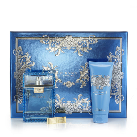 Man Eau Fraiche Set for Men by Versace 3.4 oz.