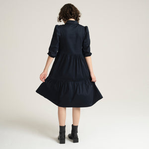 Eden Navy Dress - Sarah Feldman Modest Clothing
