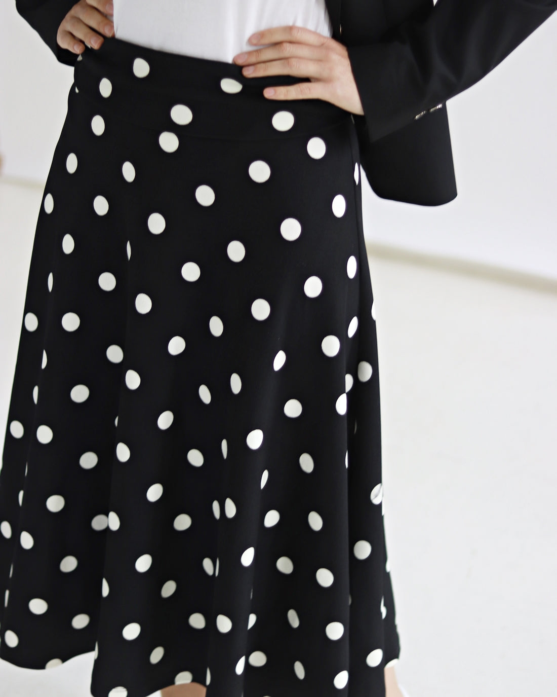 Polka dot Foldover Skirt - Sarah Feldman Modest Clothing
