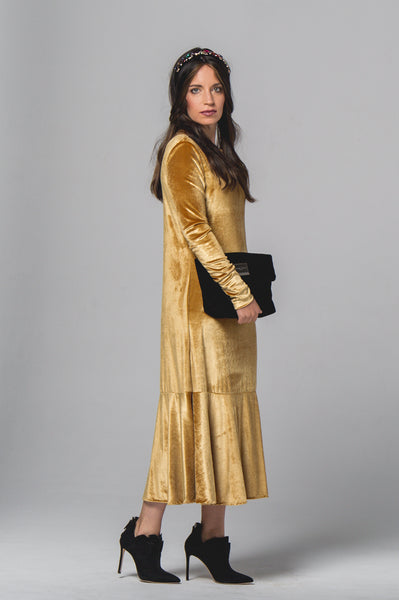 Yael Yellow Gold Dress - Sarah Feldman Cape Town