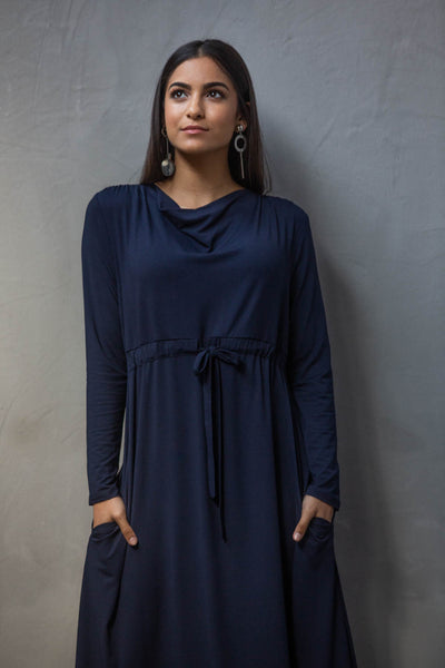 Deborah Navy Dress - Sarah Feldman Cape Town