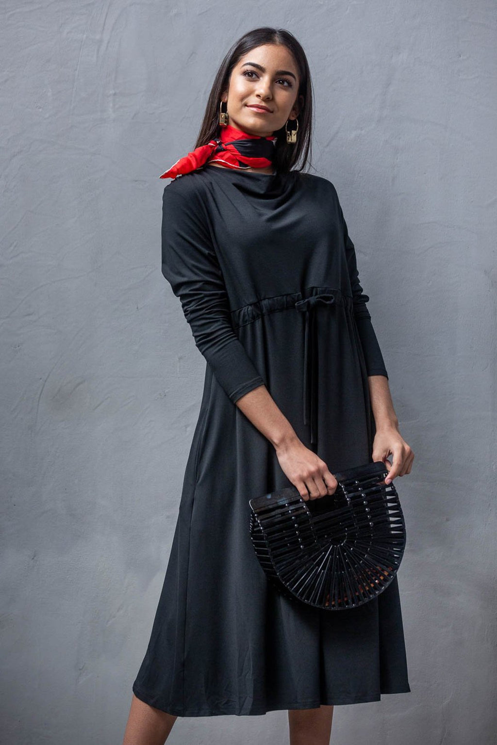 Deborah Black Dress - Sarah Feldman Modest Clothing