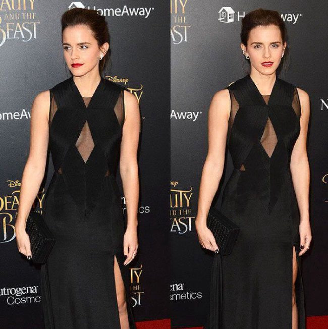 emma watson wears tisci dress in support of sustainable fashion