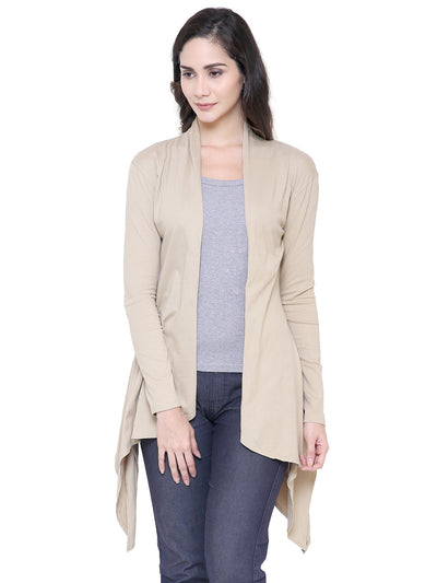 COA Women Beige Long Island Organic Cotton Shrug