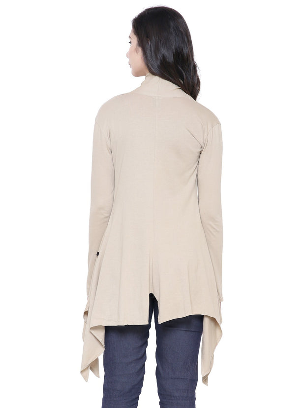 COA Beige Long Island Shrug Sustainable Fashion for Women