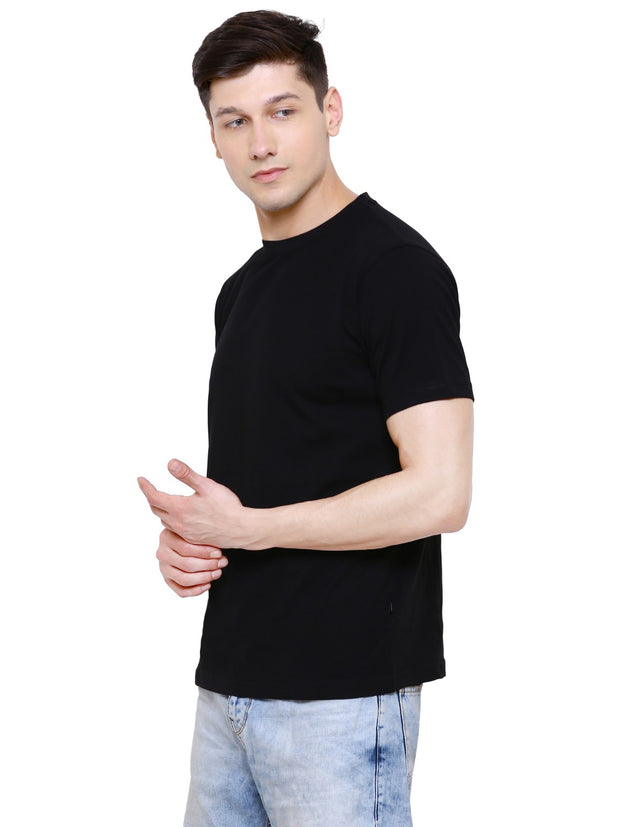 Black Half Sleeve Organic Cotton T-shirt