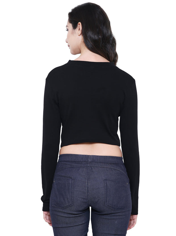 Sustainable Organic Fashion Black crop top