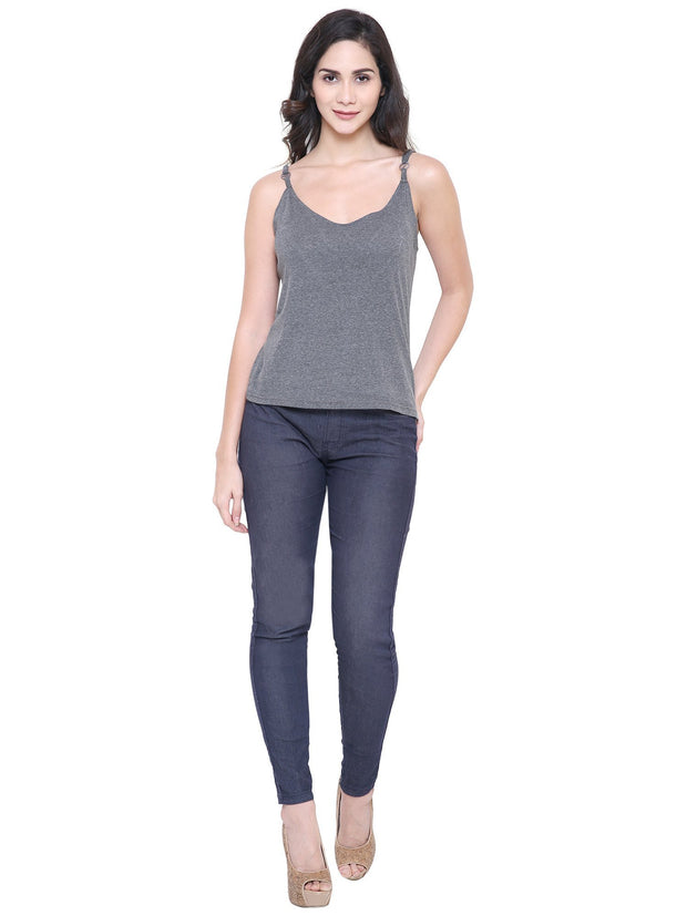 COA Grey Organic Cotton Camisole Top