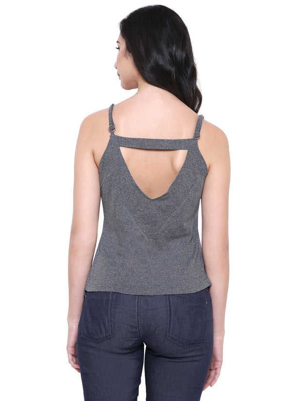 Charcoal Grey Organic fashion Camisole Top