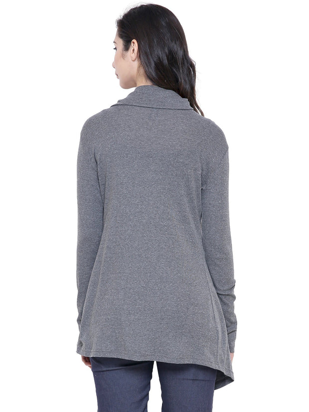 COA Grey sustainable fashion Organic Cotton Shrug