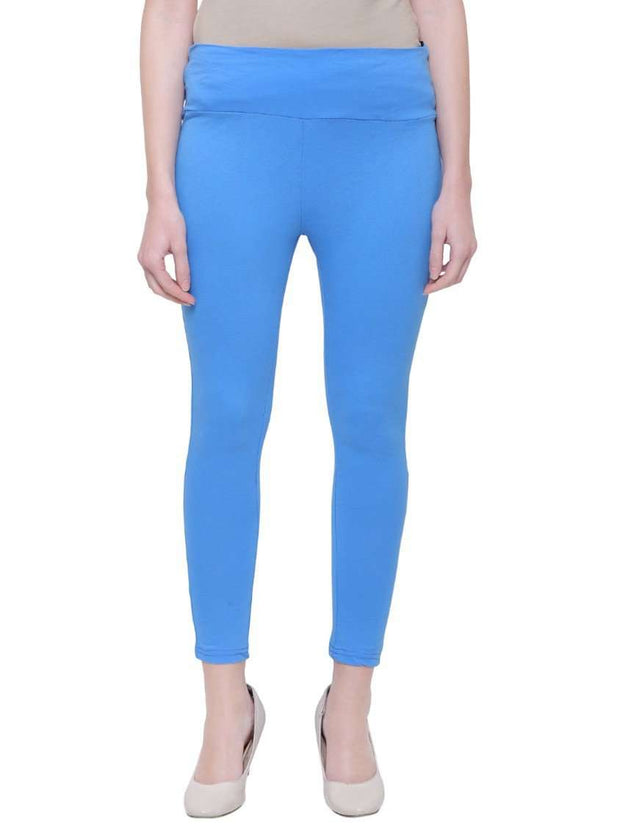 "Light Blue ""Can't Go Wrong"" Yoga Pants"
