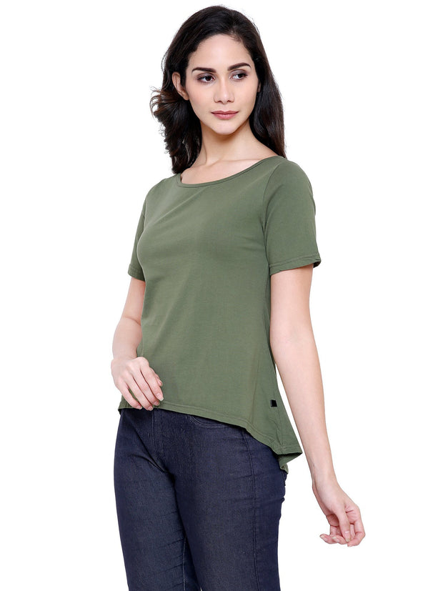 Olive Green Beautiful A-Line Top