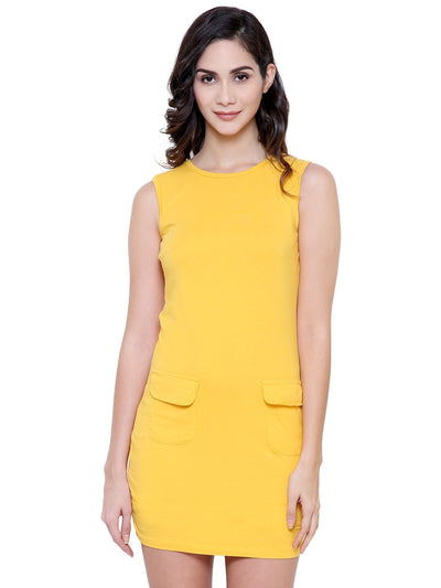 Yellow Bodyfit Organic Cotton Dress