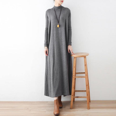 2020 Autumn Art Loose High Heck Knitted Dress August 2020-New Arrival ONE