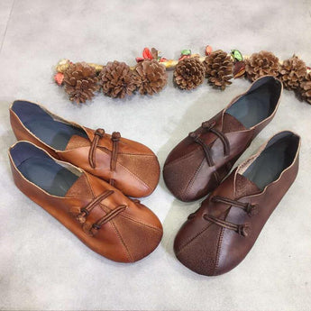 Autumn Buckle decorative shoes September 2020 new arrival 35 brown
