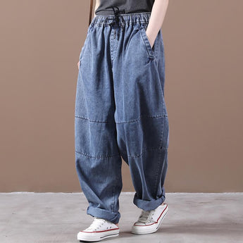 Autumn Loose Casual Wide-leg Jeans May 2021 New-Arrival M Blue